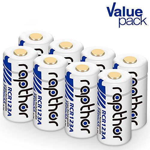 3.7V Li-ion Rechargeable Batteries for Arlo Wireless Security Cameras [750mAh 8pack] (VMC3030/VMK3200/VMS3230/3330/3430/3530) Flashlight Microphone Polaroid [UL Certified]
