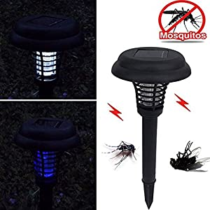 Solar Power LED Mosquito Killer Lamp Outdoor Garden Yard Lawn Decor Lantern