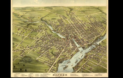 Historic Panoramic Maps of Maine on CD