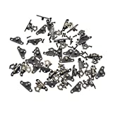Towashine 20Pcs Small Decorative Clasp Latch Lock with Screws for Jewelry Trinket Gift Box Suitcase Decoration