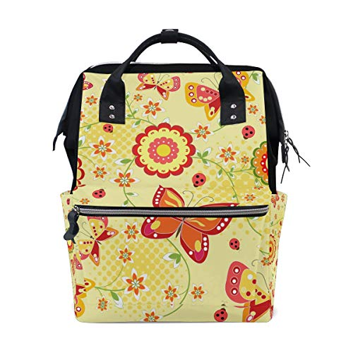 Large Mummy Butterfly Bag Backpack Women Function Colorful Capacity Multi3 for Travel Canvas Muti Bag CPtHHdq
