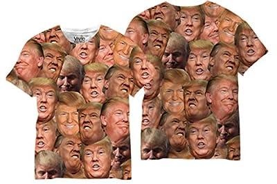 Donald Trump Funny face Full printed T Shirt