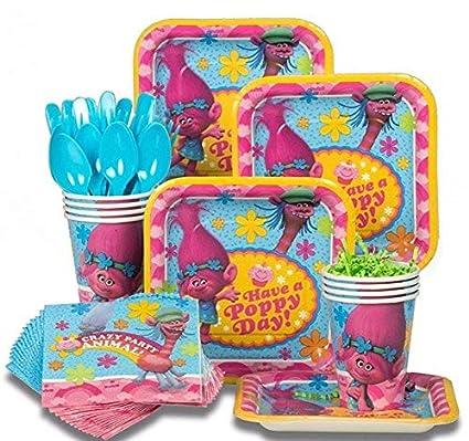 Amazon.com: Trolls – Pack de platos de postre estándar para ...