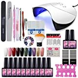 Fashion Zone 10 Colors Soak Off Gel Polish Starter Kit 36W LED UV