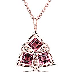 Pink Tourmaline Bridal Diamond Pendant