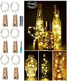 LED Cork Light for Wine Bottle,Starry String Light,Pack of 6, Battery Powered,39inches,20 LEDs ,for...