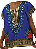 Decoraapparel African Kids Dashiki Unisex Charismas Gift Shirt Vintage Hippie Tribal Blouse S M L XL