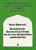 Neuhebraische Grammatik auf Grund Altester Handschriften und Inschriften 9783631436950
