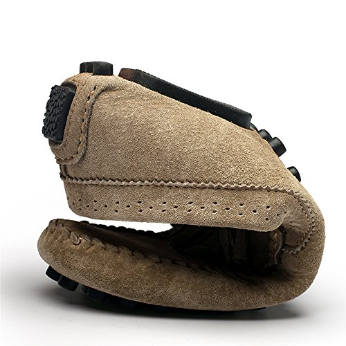 Nappa on da Pelle Decor in Slip Penny Vera Khaki Uomo Mocassini Guida Cricket Ciondolo da Mocassini Scarpe 8FfxBqB