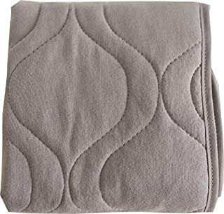 product image for SheetWorld Crib Bib Sheet Saver, Soft Cotton, 4 Secure Ties, Solid Gray, Made in USA