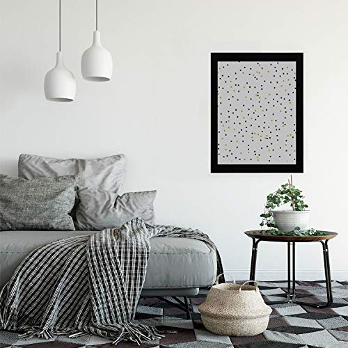 - Mini Wall Hanging Beautiful Dot Element Cartoon Modern Wooden Framed Vintage Wall Art Painting Print Hangings for Bedroom Living Room Vintage Wall Hanging