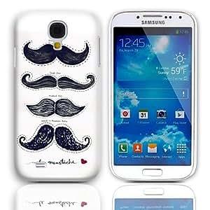 Zaki- Moustache Pattern Hard Case with 3-Pack Screen Protectors for Samsung Galaxy S4 mini I9190