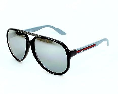 0225518c4bf Gucci Sunglasses GG 1627 S Q1R32 Acetate plastic Black - Grey Gradient Grey  mirror  Amazon.co.uk  Clothing