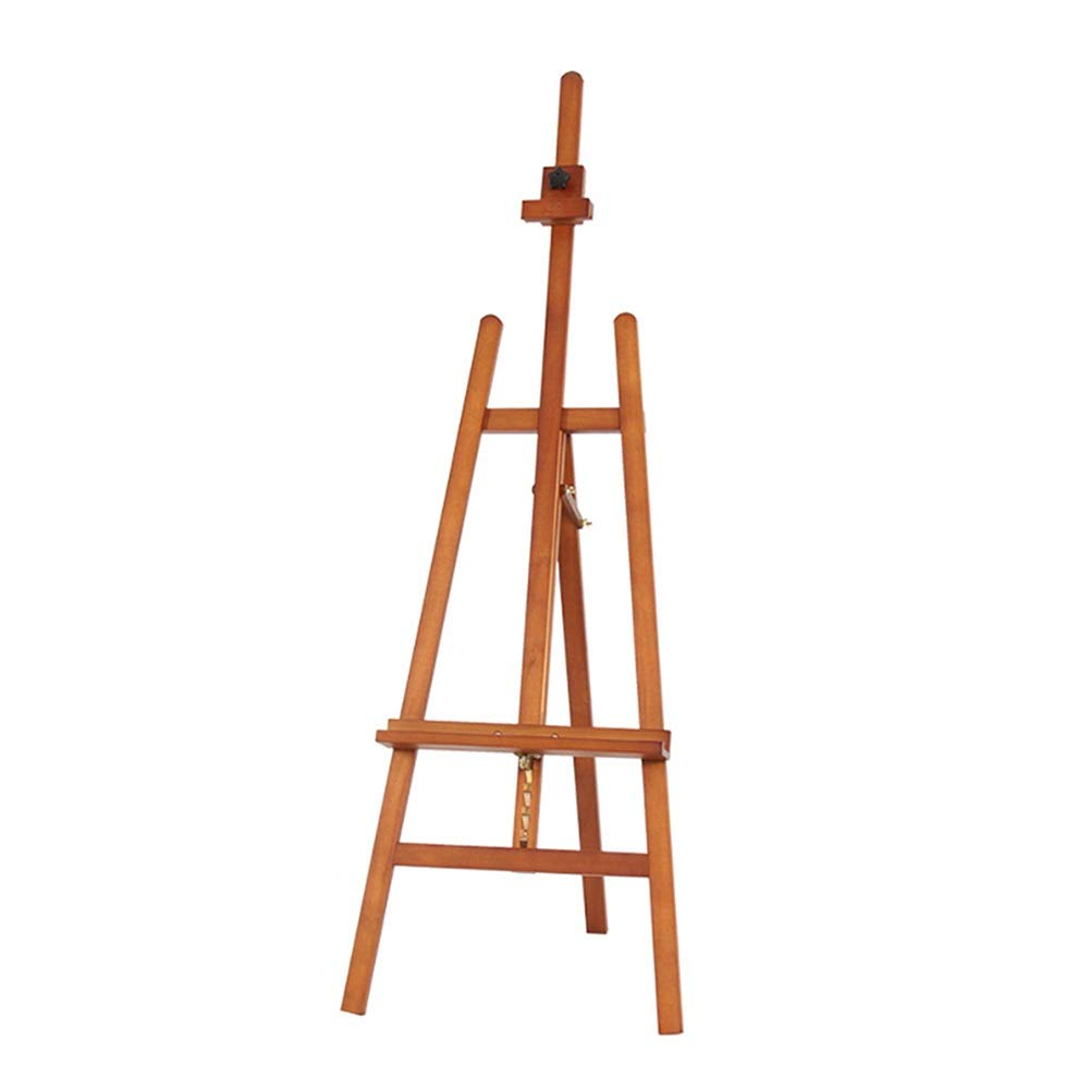 YY 自立型木製イーゼル、調整可能な147-193CM高さ塗装スタンド、プロの画材塗装棚   B07R7Y4CCB
