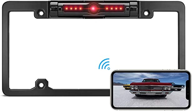 HD Car Rear View Backup Camera of License Plate for Truck RV Fit All Cars Night