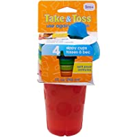 The First Years Take & Toss Spill-Proof Sippy Cups, 10oz, Pack of 4