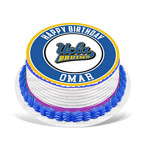 (UCLA Bruins Edible Cake Topper Personalized Birthday 10