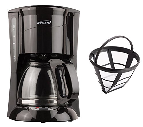 Brentwood Appliances TS-218B 12-Cup Coffee Maker (Black Digital), accessory,