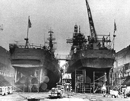 Home Comforts Laminated Poster The U.S. Navy Destroyers USS Hank (DD-702) and USS Laffey (DD-724) in a Drydock, Circa 1968. Vivid Imagery Poster Print 24 x 36