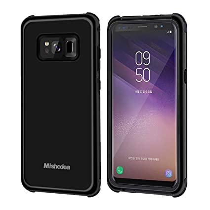 Mishcdea Samsung Galaxy S8 Waterproof Case Shockproof Snow-Proof Dirt-Proof Full Body Phone Protector Cover with 2 Soft Silicon Stoppers Extreme Heavy ...