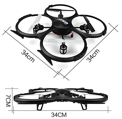 Amazon Com Udi U818a 2 4ghz 4 Ch 6 Axis Gyro Rc Quadcopter 818a