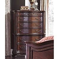 Dublin 6 Drawer Chest in Cherry - Colonial, Claw Feet, Wood Carving