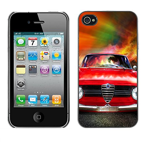 Hülle Case Schutzhülle Cover Premium Case // V00002588 Rennautos // Apple iPhone 4 4S 4G