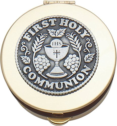 Cathedral Art BX101 Communion Rosary Keepsake Box, 2-1/8-Inch -