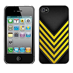 TopCaseStore Rubber Case Hard Cover Protection Skin for Apple iPhone 4 & 4S - bee wasp security danger racing