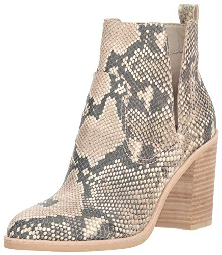 Dolce Vita Women's Shay Ankle Boot, Snake Print Embossed Leather, 8.5 M US