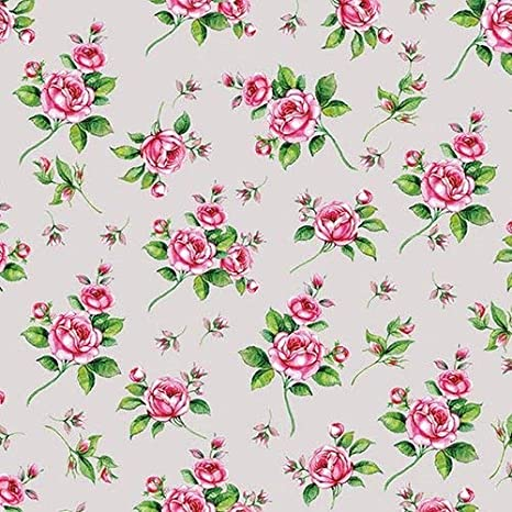 Rose Blossom Pink 4 Individual Napkins for Craft and Napkin Art. 4 Paper Napkins for Decoupage 3-ply 33 x 33cm