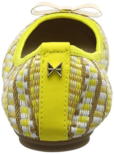 Mujer Chloe Punta sunflower Bailarinas Amarillo Yellow Para Con Butterfly Basketweave Cerrada Twists 78aSqS