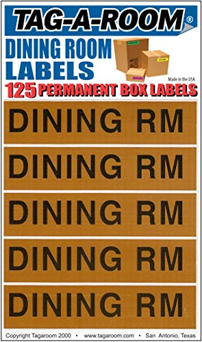 Tag-A-Room Color Coded Moving Box Labels (Dinning Room)