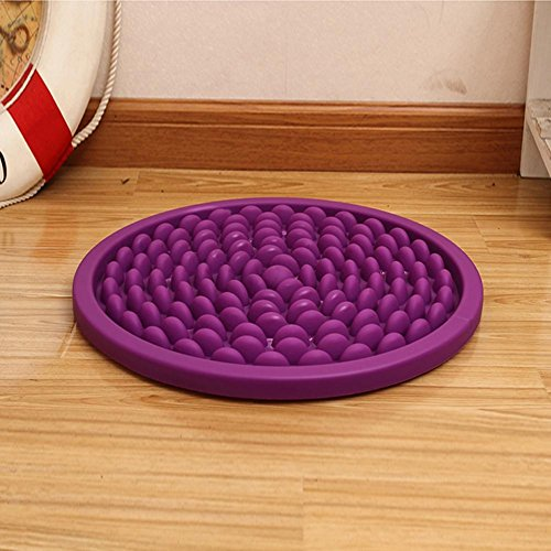 MQYH@ Imitation Pebbles Foot Reflexology Massage Spa Mat Cobblestone Health Care Reflexology Washable Bathroom Non-Slip Mat , purple (Back Carver Chair)