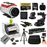 TomTom Bandit 4K Action Camera with 32GB Ultra Memory + MicroSD Reader + Suction Cup Mount + 67 Monopod + 60 Pro Series Tripod + Large Padded Case + Handgrip Stabilizer + HDMI Cable + More