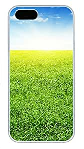 iPhone 5 5S Case The Brilliant Green Grass 2 PC Custom iPhone 5 5S Case Cover White