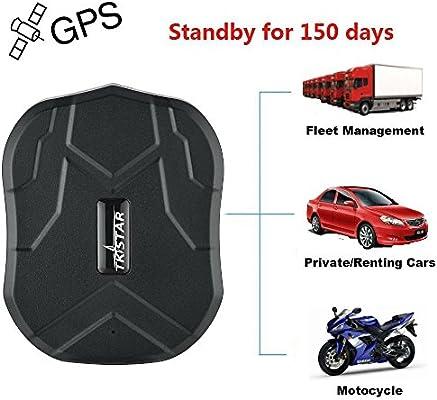TKSTAR Tracker GPS, 5 meses standby- de tiempo real cortafrío de posición Mini GPS para coche/vehículo moto impermeable, imán potente y batteria- GSM ...