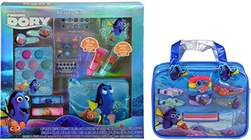 Disney Pixar Finding Dory 14 Piece Hair Accessory Set with Handbag and Beauty Cosmetic Kit ()