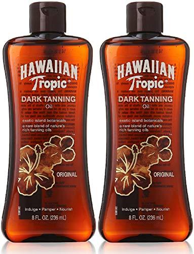 Dark Tanning Oil, 8 fl oz, (Pack of 2) Hawaiian Tropic