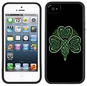 LJF phone case Celtic Shamrock Handmade iphone 6 plus 5.5 inch Black Case