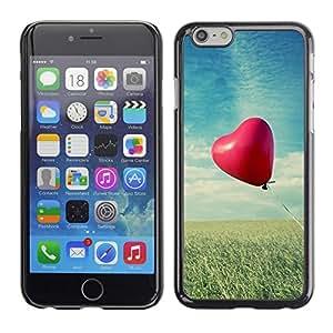 TopCaseStore / la caja del caucho duro de la cubierta de protección de la piel - Love Balloon Love - Apple iPhone 6