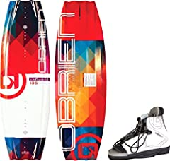 Like the O'Brien system wakeboard, the O'Brien siren's continuous rocker keeps the board stable on the water and predictable off the wake. The Siren also uses the same dual channels at the tip and tail and center-mounted flank fins to ensure ...