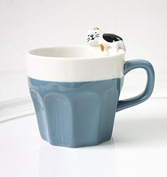 huayoung lindo gato tazas de cerámica tazas de café tazas de Demitasse después de la cena ml tazas de café: Amazon.es: Hogar