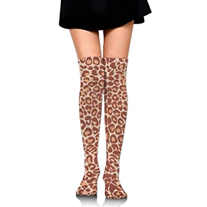 753bb8f8437 LOIOI67 Miami Cocoa Leopard Brown Animal Print Training Socks Crew Athletic  Socks Long Sport Soccer Socks