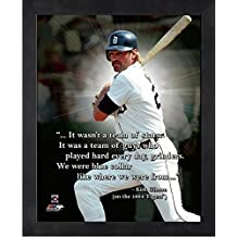 """Kirk Gibson Detroit Tigers ProQuotes Photo (Size: 12"""" x 15"""") Framed"""