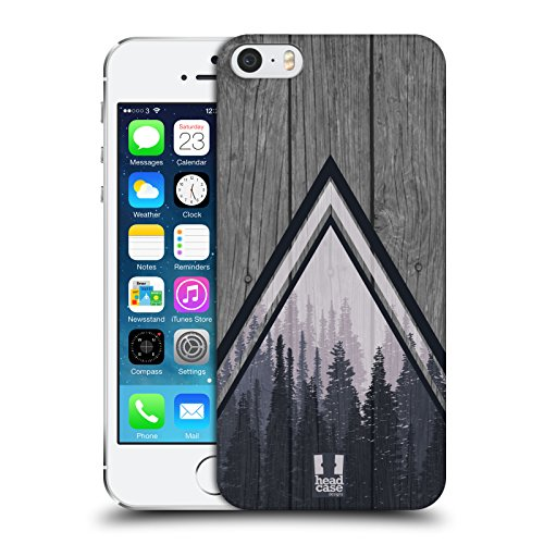 Head Case Designs Pine Trees Nature Wood Prints Hard Back Case Compatible for iPhone 5 iPhone 5s iPhone SE (Wood Tree Iphone 5 Case)
