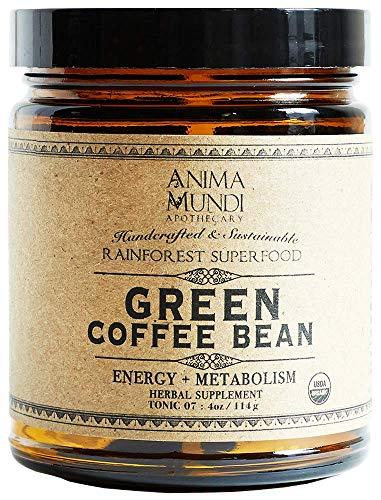 Anima Mundi Green Coffee Bean Energy + Metabolism Powder - Extra Strong Extract Powder with 45% Active Chlorogenic Acid (4oz / 114g)