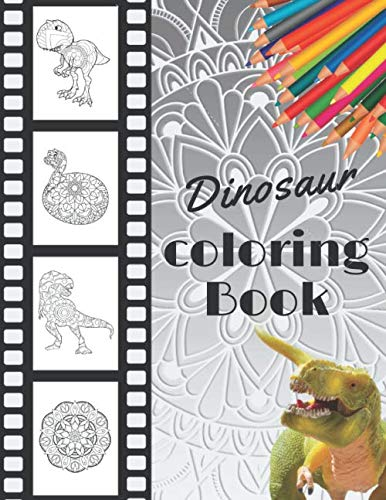 Dinosaur coloring Book: Dinosaur Mandala Coloring Book | Coloring Books for Adults and Teens | Featuring Stress Relieving Patterns | Collection of ... Coloring Pages | 75 pages - 8.5 x 11 inches
