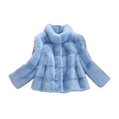 MISSMAOM Mujer Elegante Abrigos Chaquetas de Pelo Sintético de Manga Larga Cárdigan Outwear Invierno: Amazon.es: Ropa y accesorios