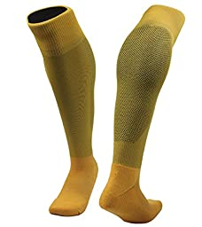 Meso Girl\'s 1 Pair Knee High Sports Socks for Baseball/Soccer/Lacrosse M(Yellow)